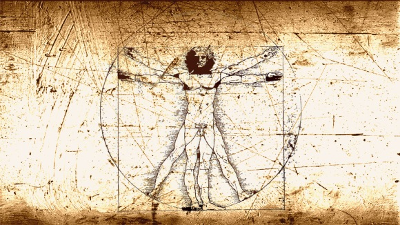 "Da Vinci's ""Vitruvian Man"" is more about Body, than Mind and Spirit. But it's still what I think of in my head when I think about this stuff. Stop looking at his penis."