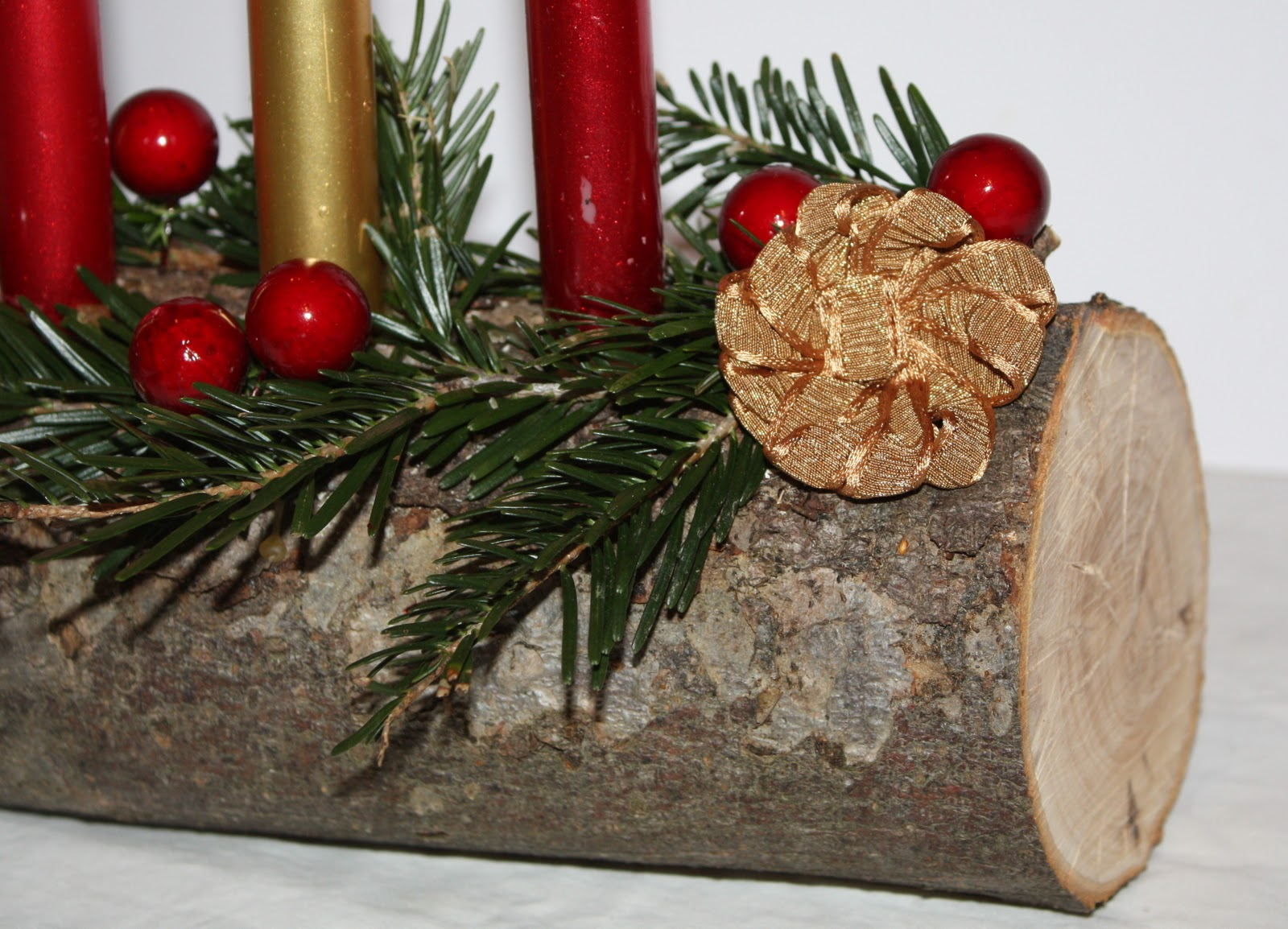 How to make a christmas yule log decoration - The Yule Log