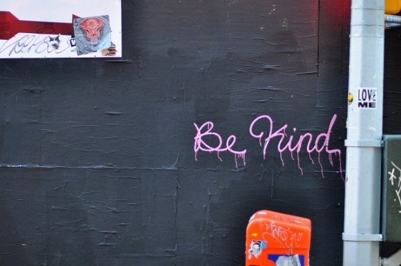 Kindness. That's where peace lives.