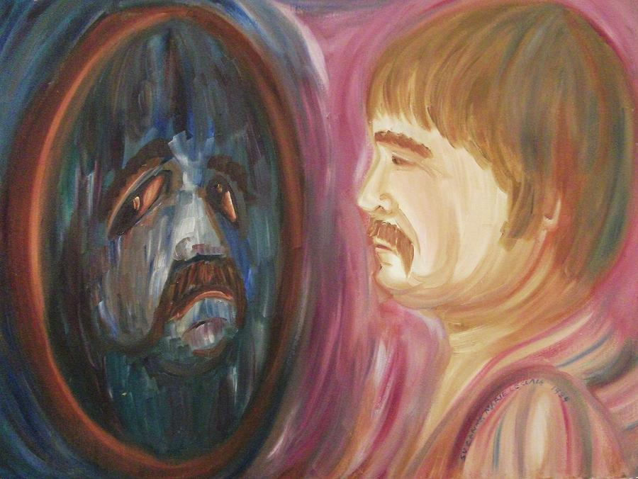 Image result for face in mirror paintings