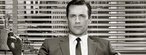 Don Draper (portrayed by actor Jon Hamm) from AMC's Mad Men.