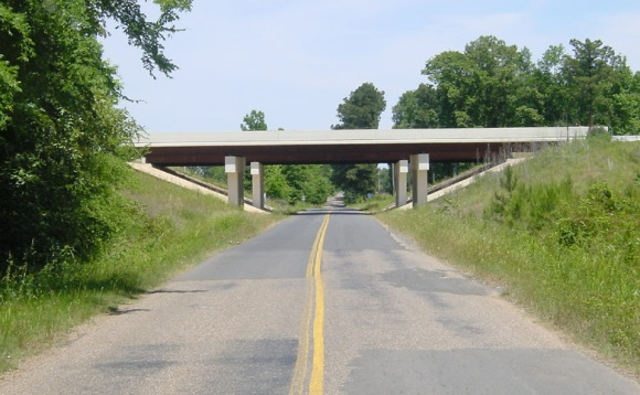 country road overpass