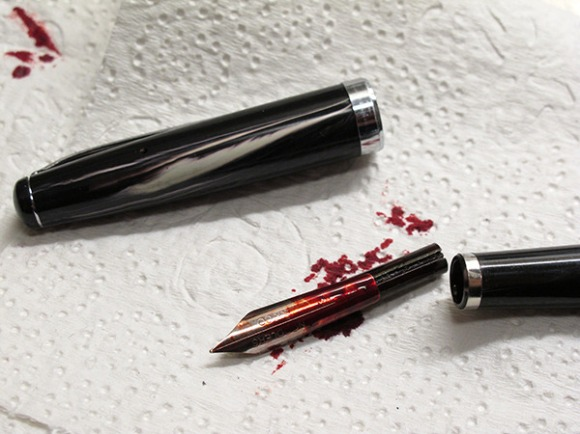 Bloody pen