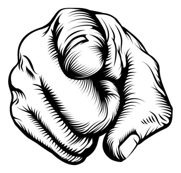 your fault finger point