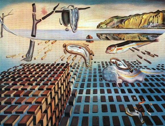 Disintegration of the Persistence of Memory painting by Salvador Dali