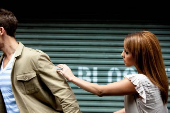 stubborn boyfriend walks away