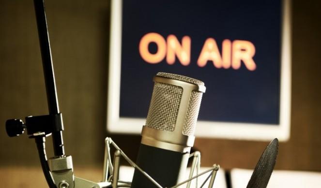 radio on air microphone
