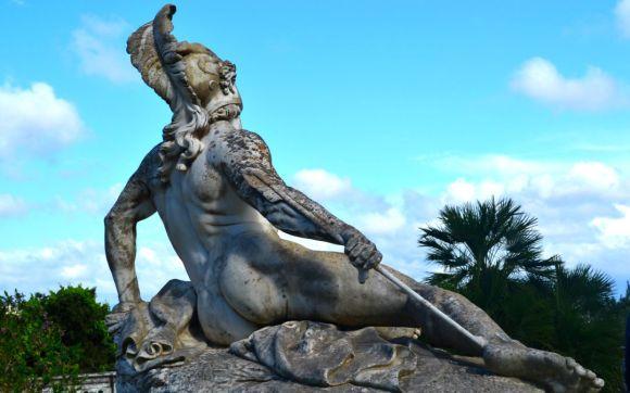 Achilles heel statue