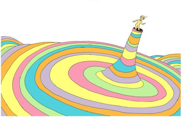 Oh the Places You'll Go Dr. Seuss book cover art