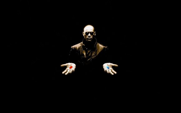Morpheus - red pill blue pill The Matrix