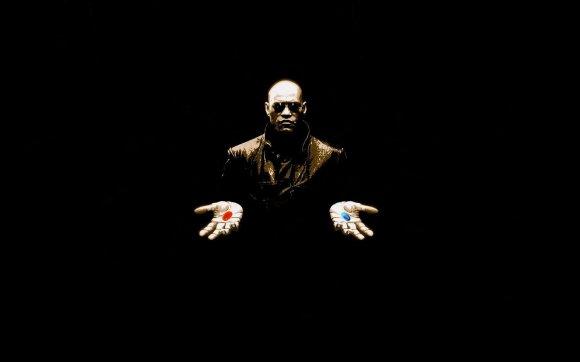 Morpheus - red pill blue pill The Matrix
