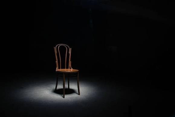 chair in spotlight