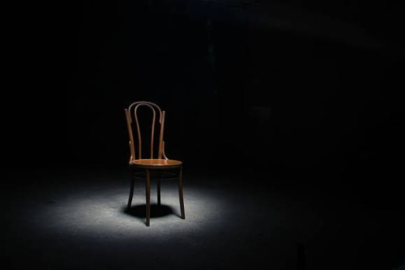 chair in spotlight