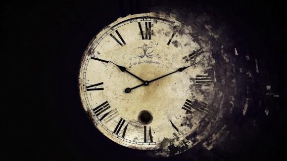 Temporary clock art